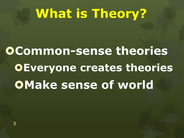 What is theory1