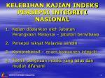 kelebihan kajian indeks persepsi integriti nasional