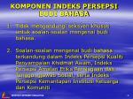 komponen indeks persepsi budi bahasa