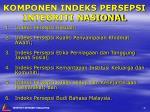 komponen indeks persepsi integriti nasional