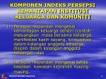 komponen indeks persepsi kemantapan institusi keluarga dan komuniti
