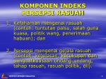 komponen indeks persepsi rasuah