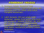 pemberat indeks