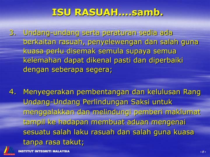 ISU RASUAH....samb.