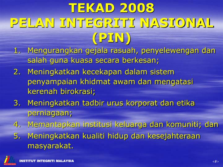 TEKAD 2008