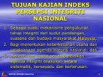 tujuan kajian indeks persepsi integriti nasional