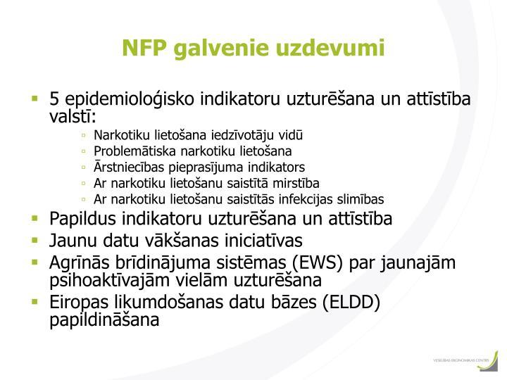 NFP galvenie uzdevumi