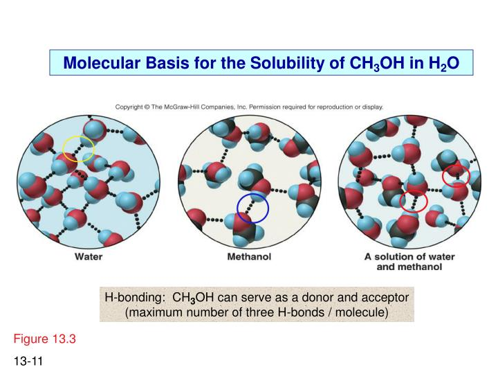 Molecular Basis for the Solubility of CH
