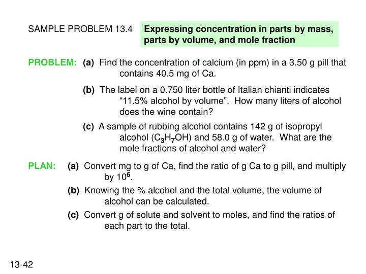 SAMPLE PROBLEM 13.4