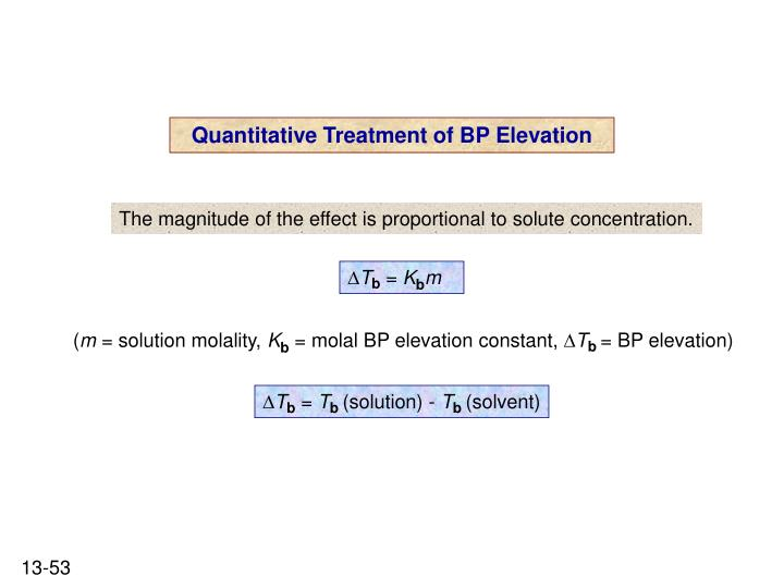 Quantitative Treatment of BP Elevation