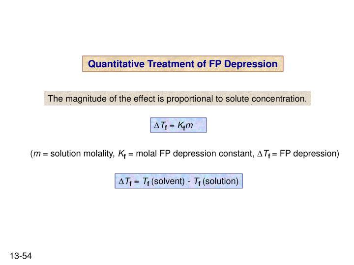Quantitative Treatment of FP Depression