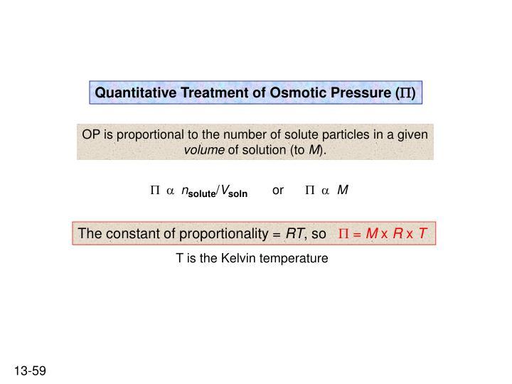 Quantitative Treatment of Osmotic Pressure (