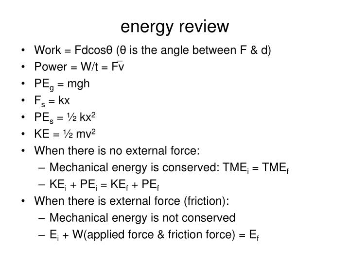 energy review