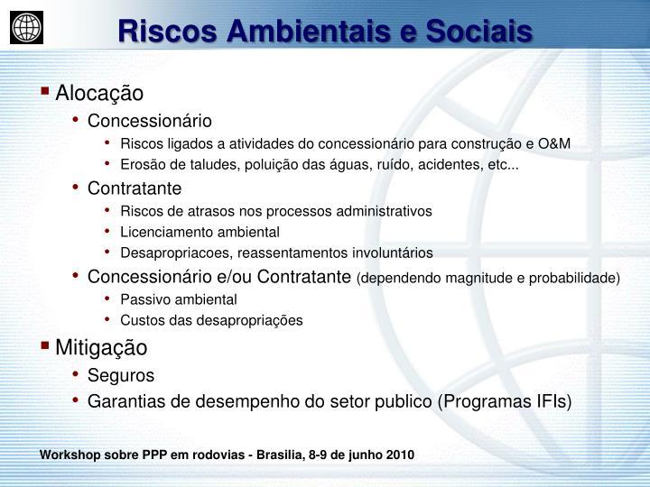 Riscos Ambientais e Sociais