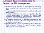 8 fiscaal decentralizationand its impact on aid management