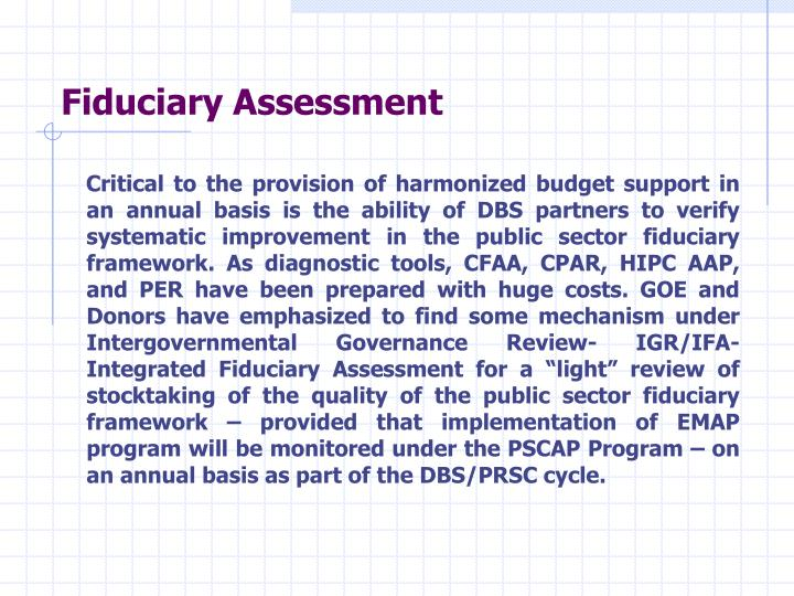 Fiduciary Assessment