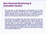 non financial monitoring evaluation system