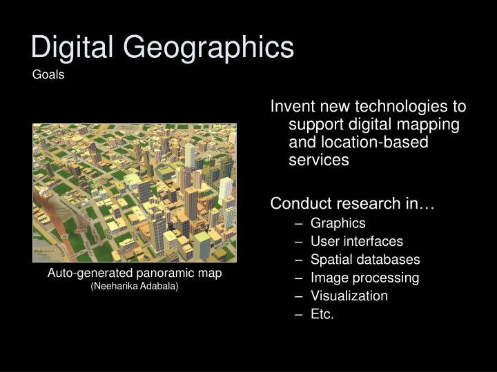 Digital Geographics