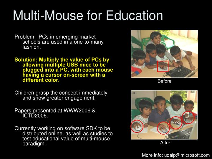Multi-Mouse for Education