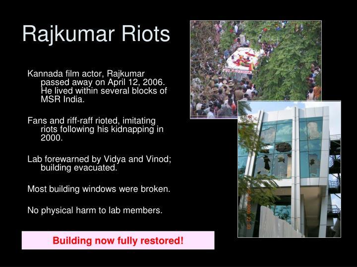 Rajkumar Riots
