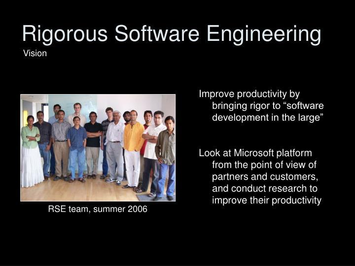 Rigorous Software Engineering