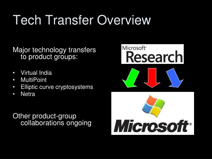 Tech Transfer Overview