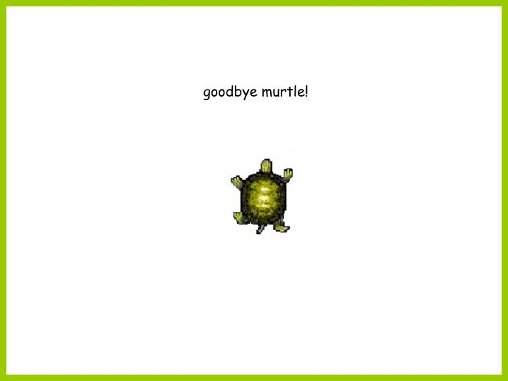 goodbye murtle!