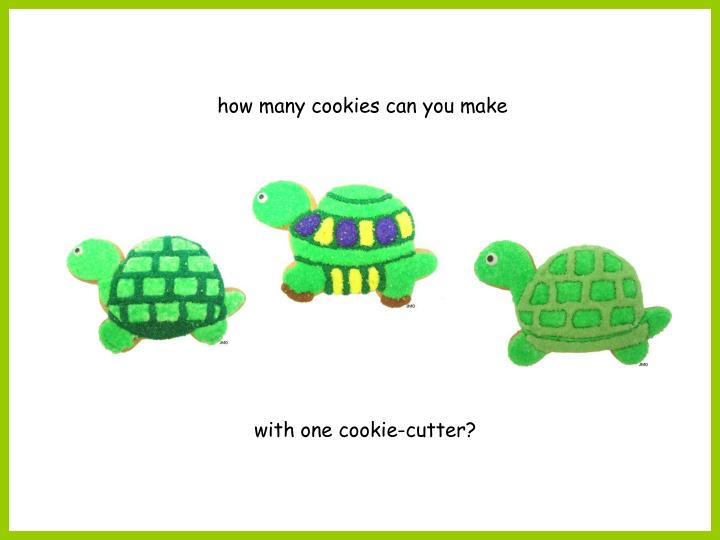 how many cookies can you make