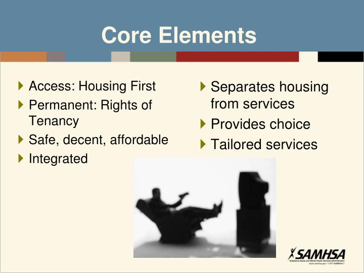 Access: Housing First