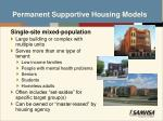 permanent supportive housing models1