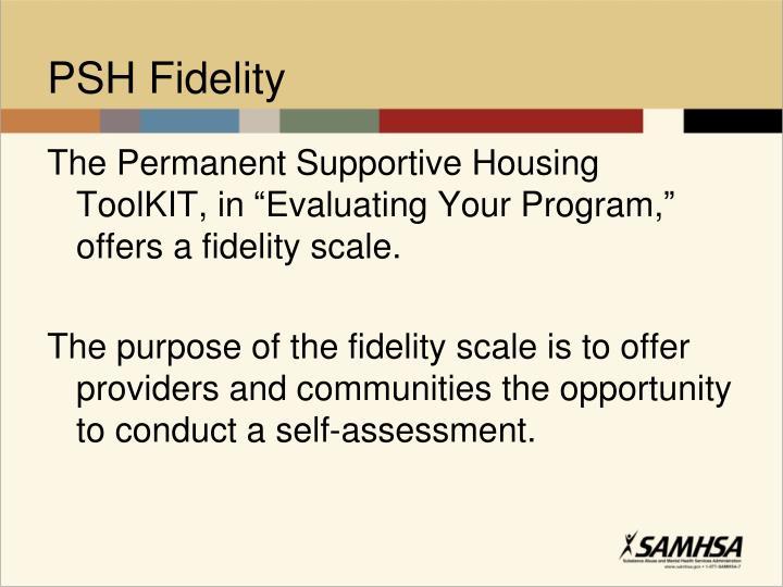PSH Fidelity