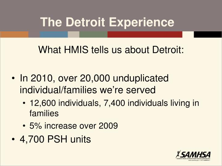 The Detroit Experience