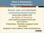 what is permanent supportive housing