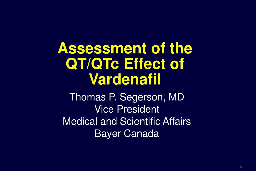 Assessment of the QT/QTc Effect of Vardenafil