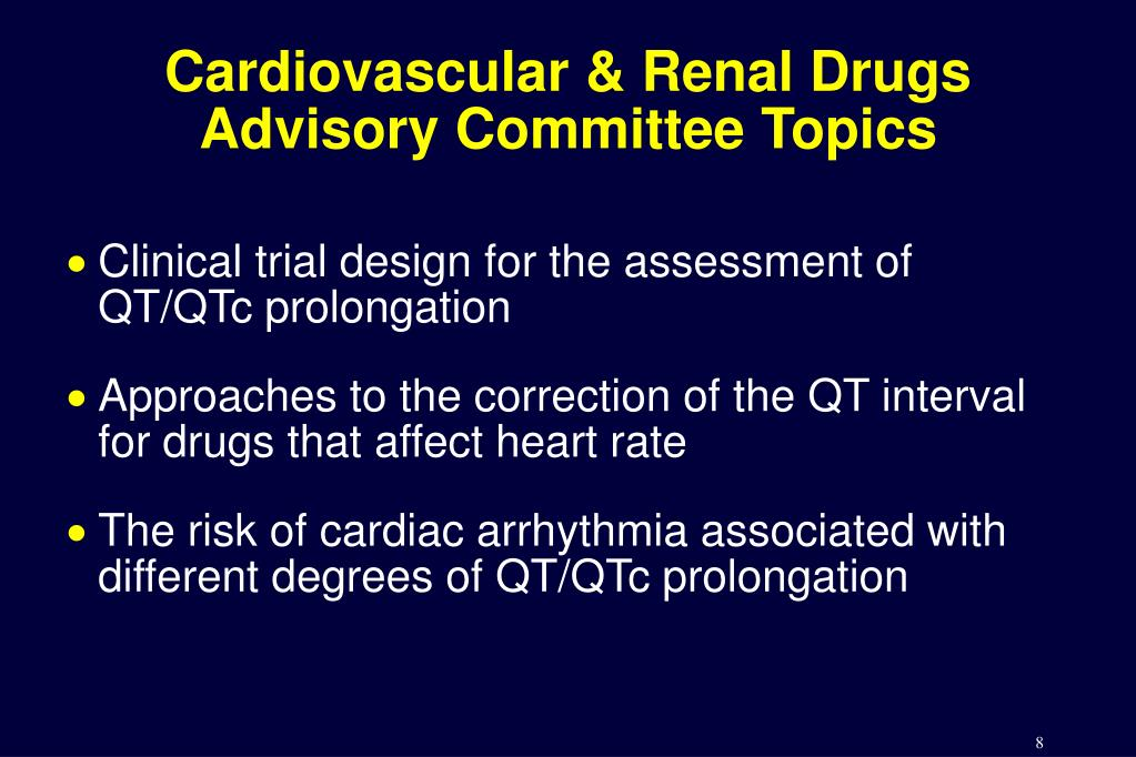 Cardiovascular & Renal Drugs Advisory Committee Topics