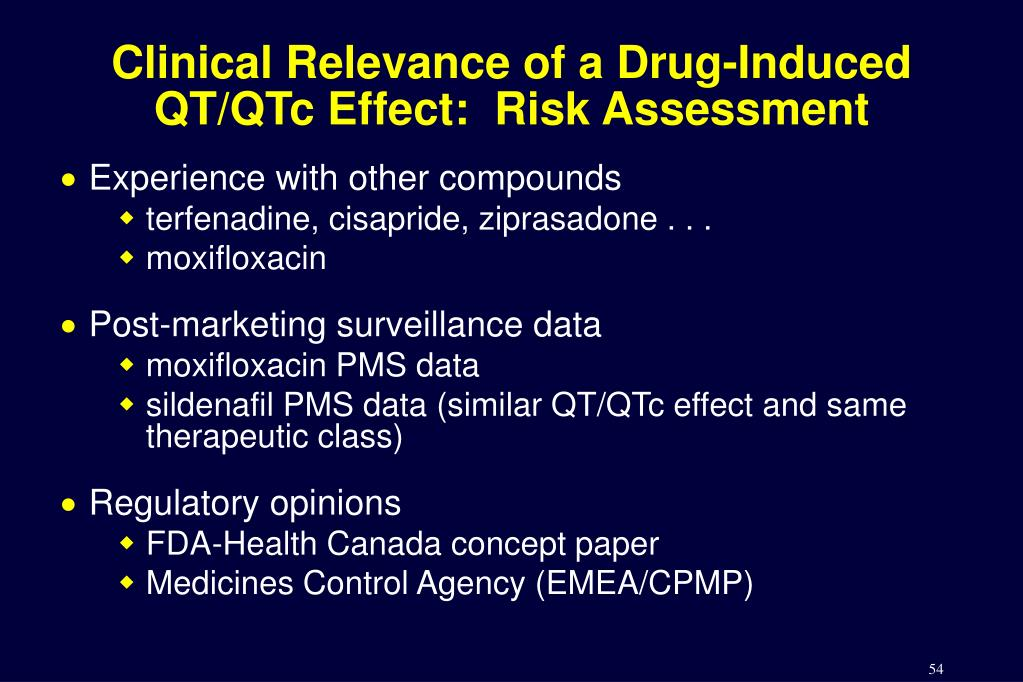 Clinical Relevance of a Drug-Induced QT/QTc Effect:  Risk Assessment