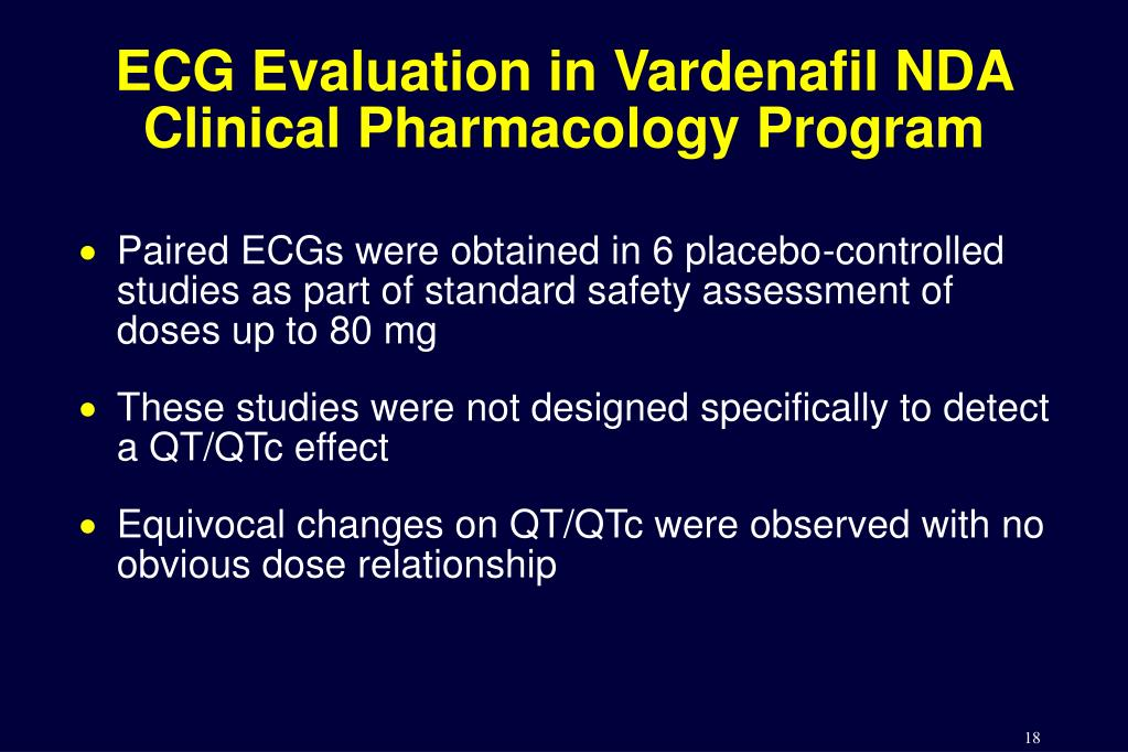 ECG Evaluation in Vardenafil NDA Clinical Pharmacology Program