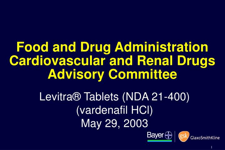 Food and drug administration cardiovascular and renal drugs advisory committee