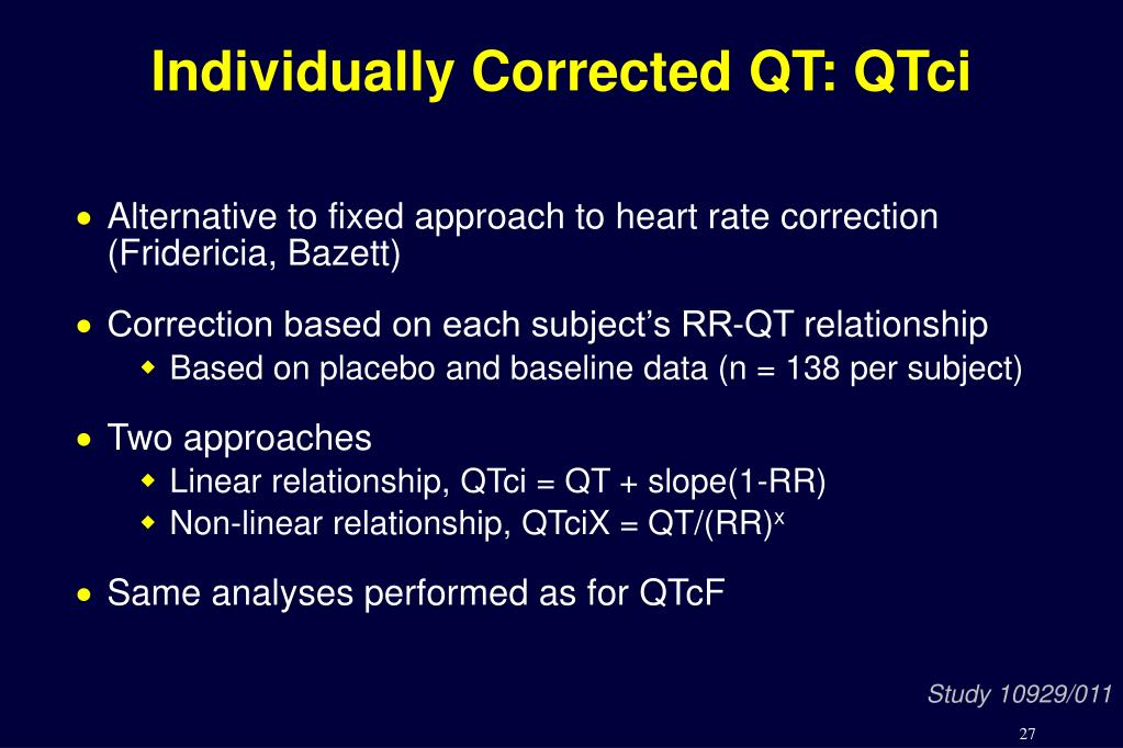 Individually Corrected QT: QTci
