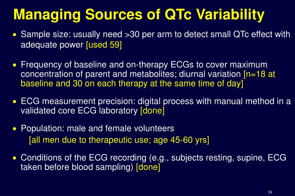 Managing Sources of QTc Variability
