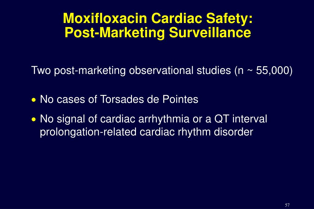 Moxifloxacin Cardiac Safety: