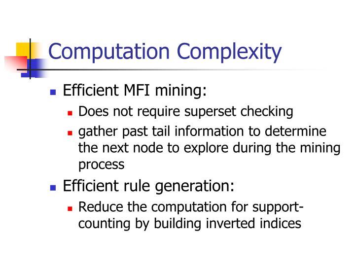 Computation Complexity