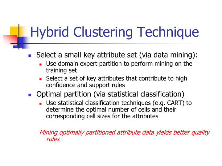Hybrid Clustering Technique