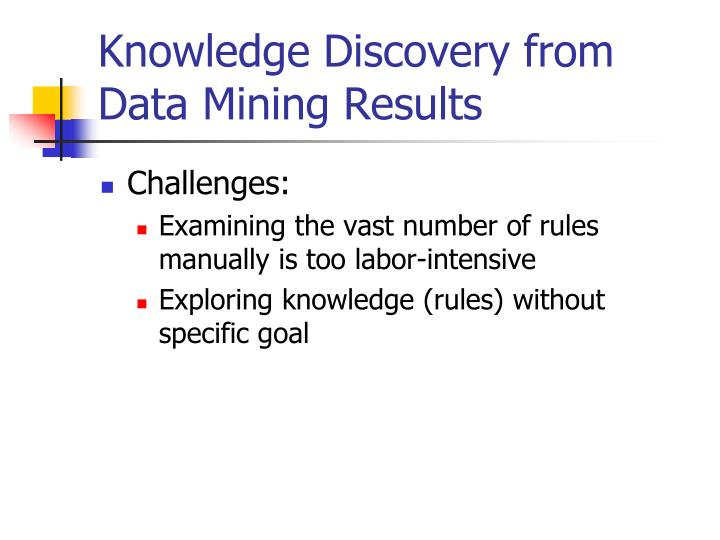 Knowledge Discovery from Data Mining Results
