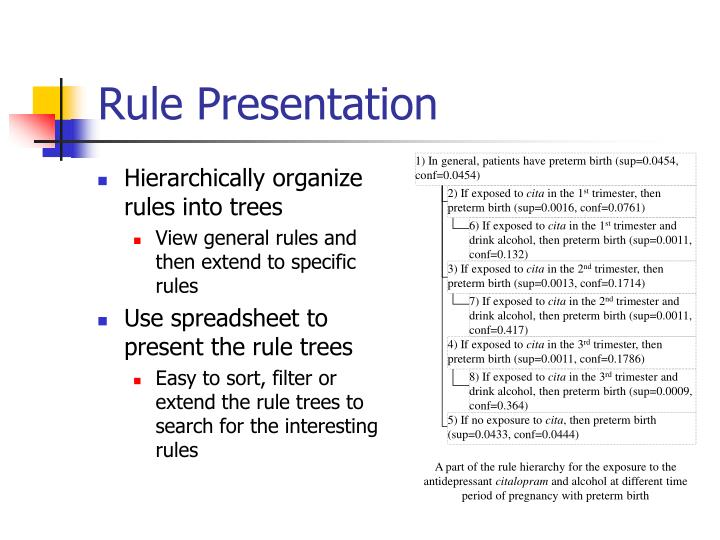Hierarchically organize rules into trees