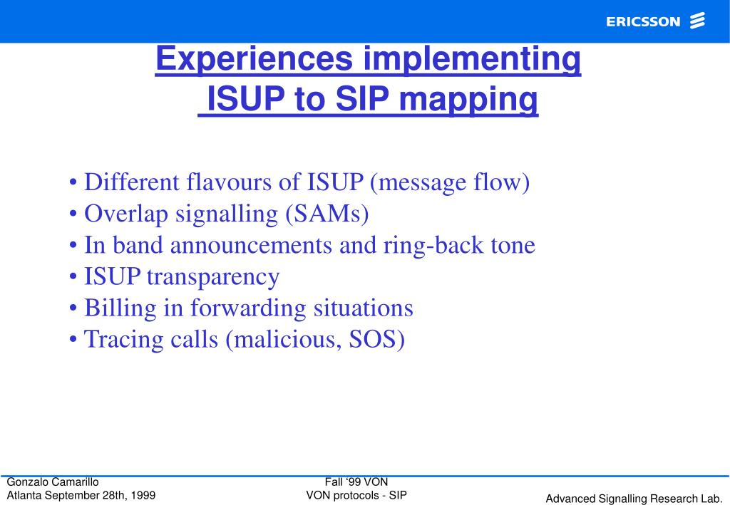 Experiences implementing