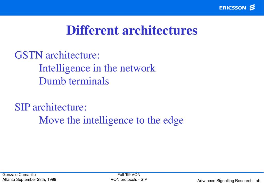 Different architectures