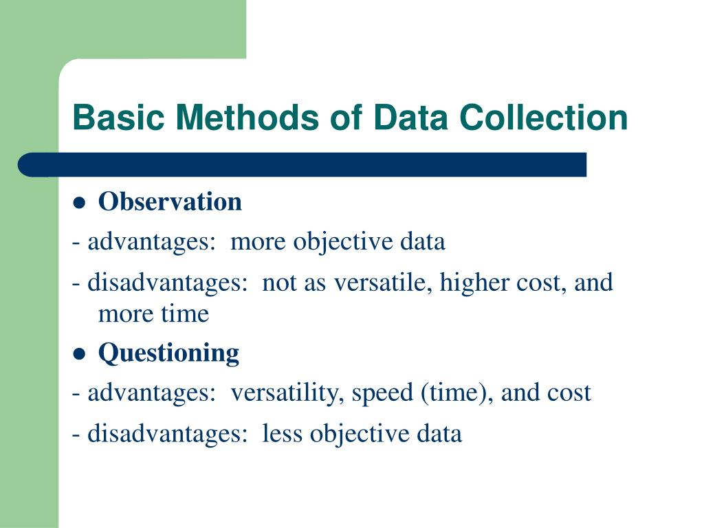 Basic Methods of Data Collection