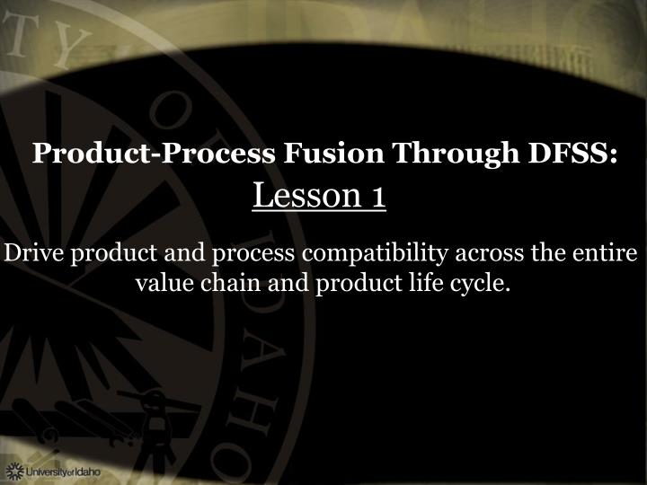 Product-Process Fusion Through DFSS: