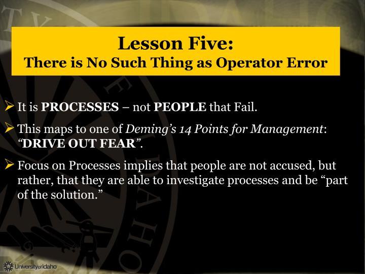 Lesson Five: